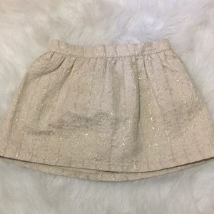 Girls osh Kosh gold shimmer skirt